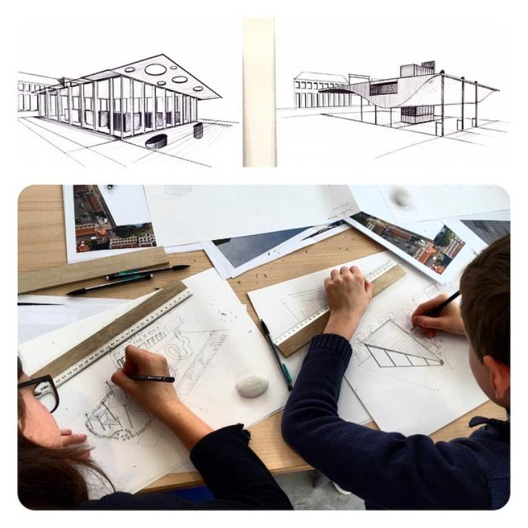 260建築設計師手稿作品