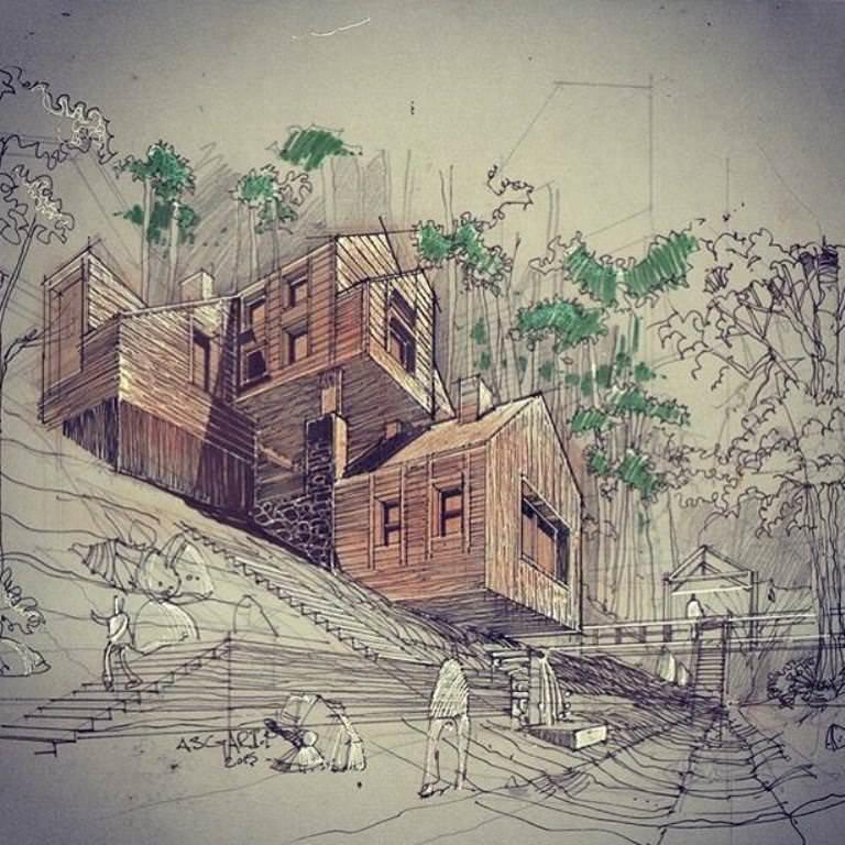 269建築設計師手稿作品