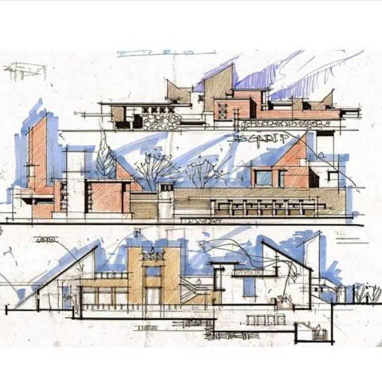 270建築設計師手稿作品