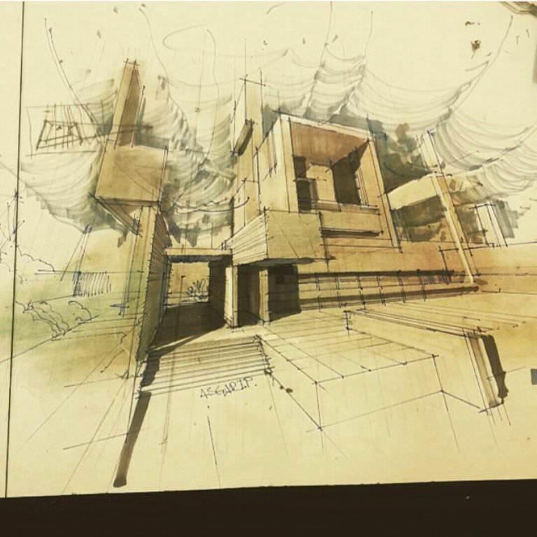 278建築設計師手稿作品