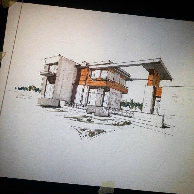 281建築設計師手稿作品