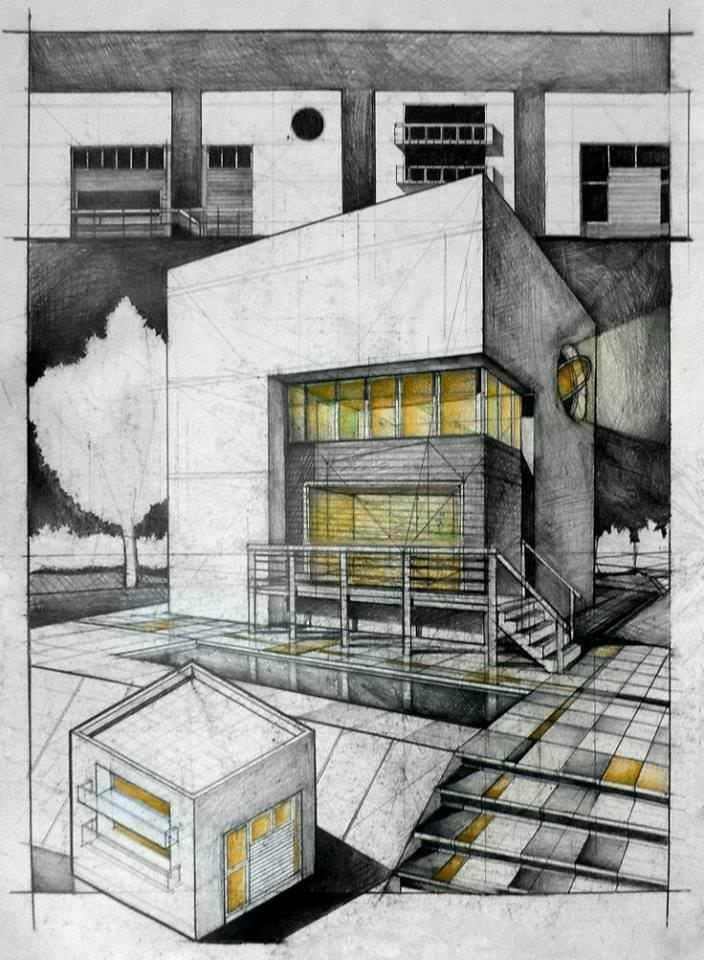 285建築設計師手稿作品