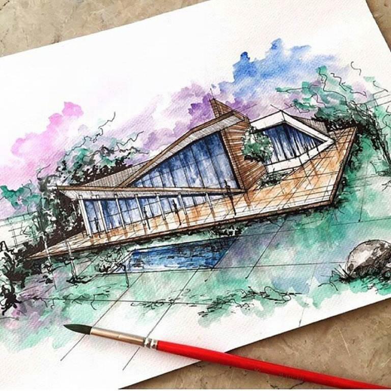 289建築設計師手稿作品