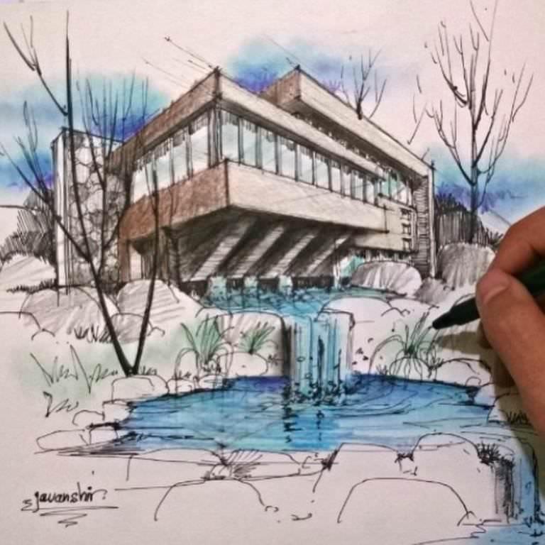 290建築設計師手稿作品