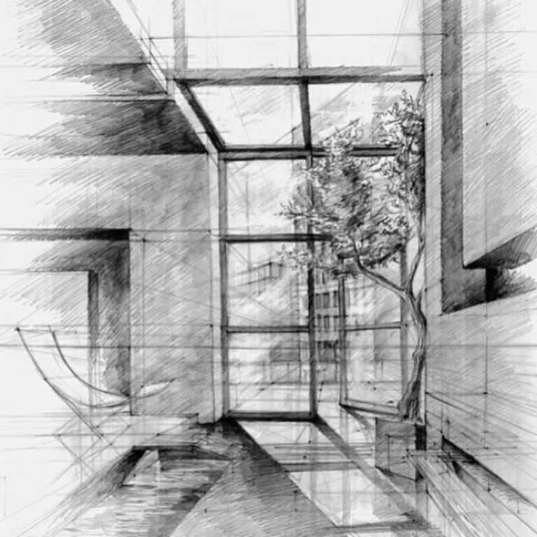 291建築設計師手稿作品