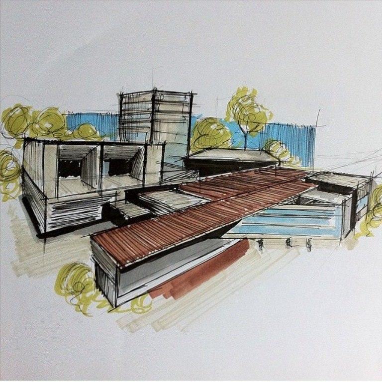 294建築設計師手稿作品