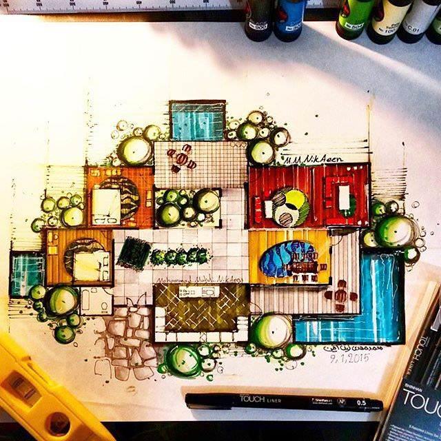 299建築設計師手稿作品