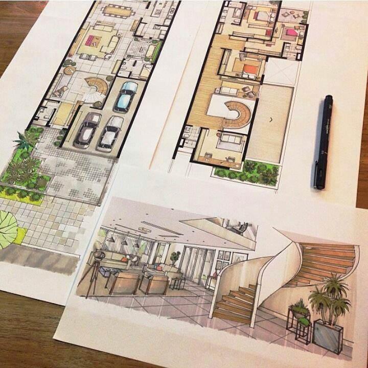 300建築設計師手稿作品