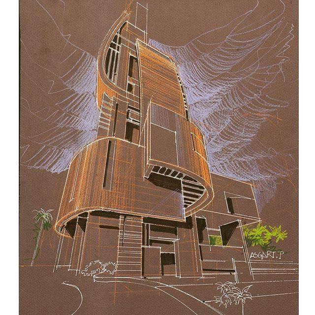 301建築設計師手稿作品