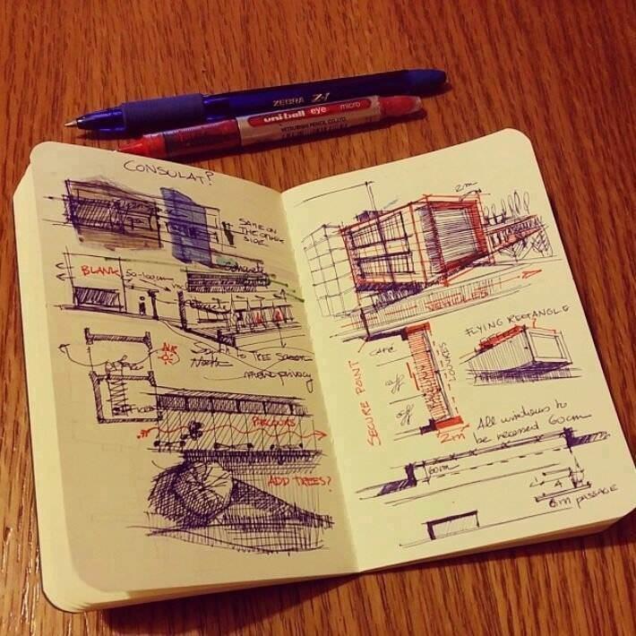 302建築設計師手稿作品