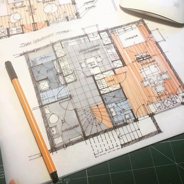 307建築設計師手稿作品