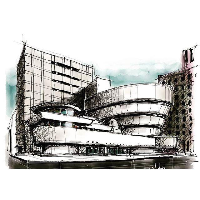 311建築設計師手稿作品