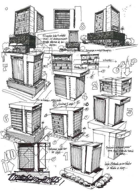 321建築設計師手稿作品