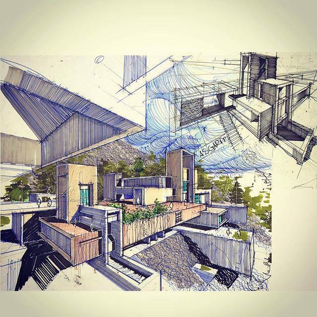 322建築設計師手稿作品