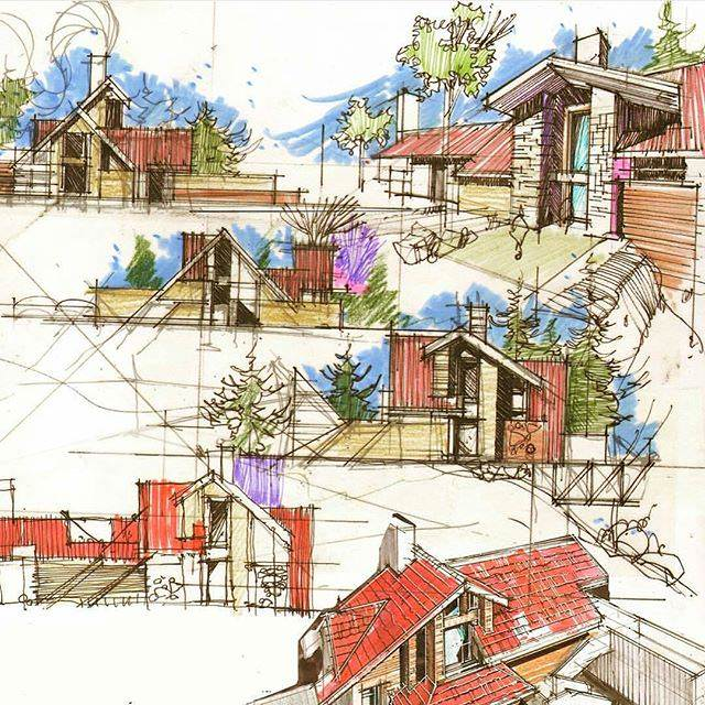 323建築設計師手稿作品