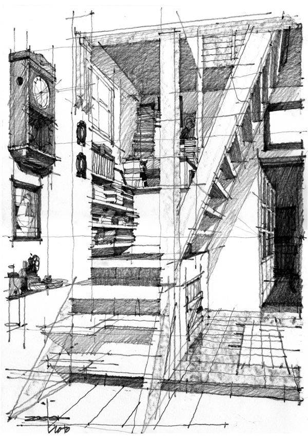 326建築設計師手稿作品