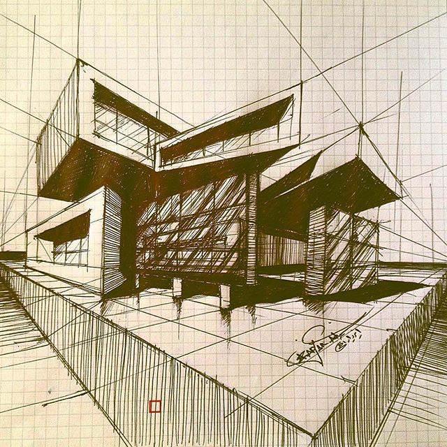 329建築設計師手稿作品
