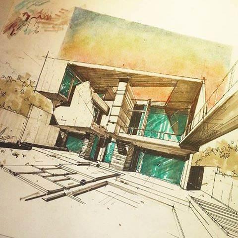 334建築設計師手稿作品