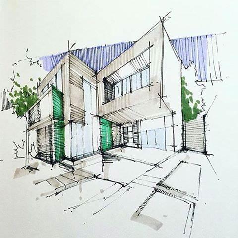335建築設計師手稿作品