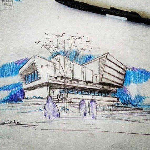 337建築設計師手稿作品