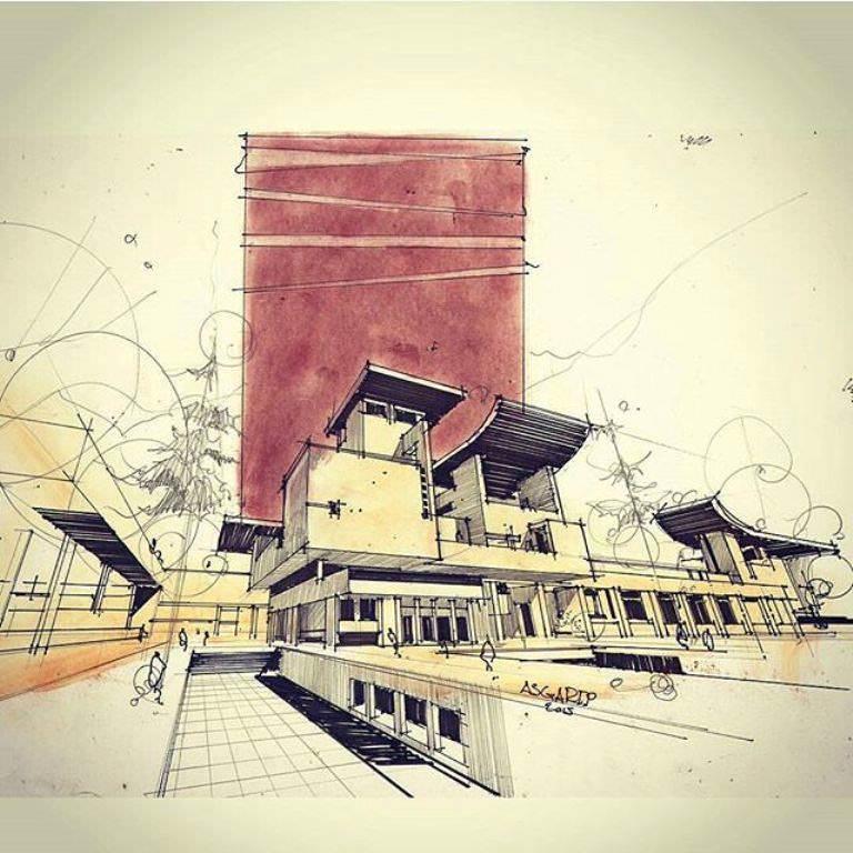 373建築設計師手稿作品