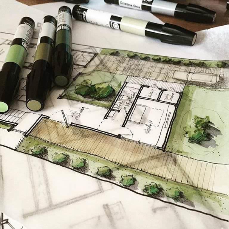 376建築設計師手稿作品