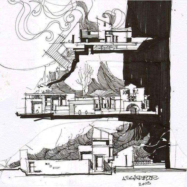 377建築設計師手稿作品