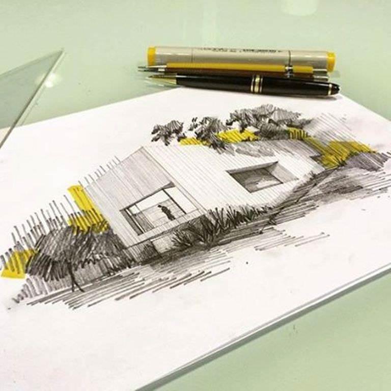 378建築設計師手稿作品