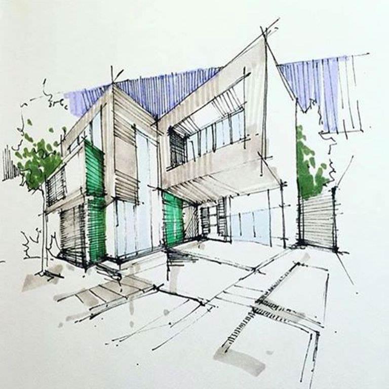 385建築設計師手稿作品
