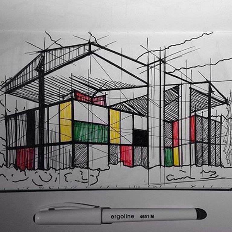392建築設計師手稿作品