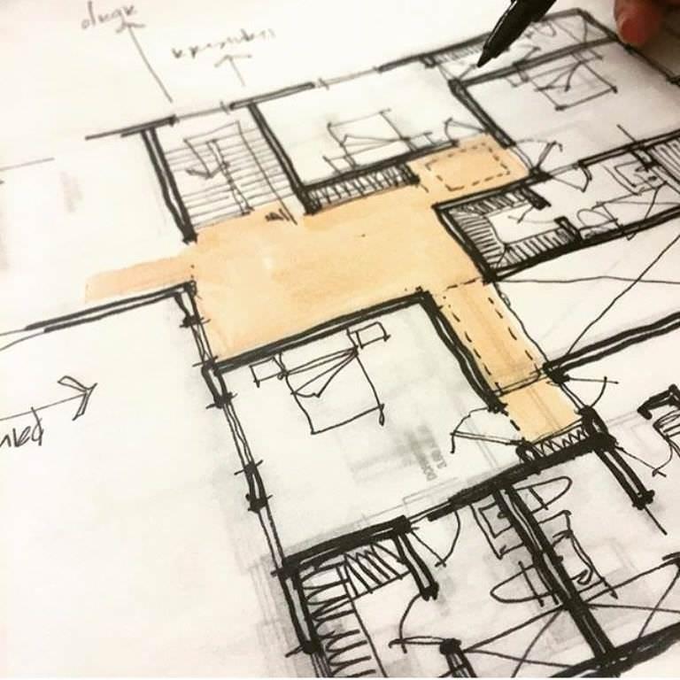 393建築設計師手稿作品