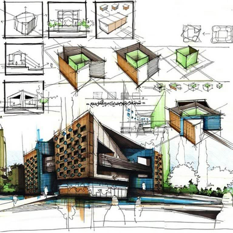 395建築設計師手稿作品