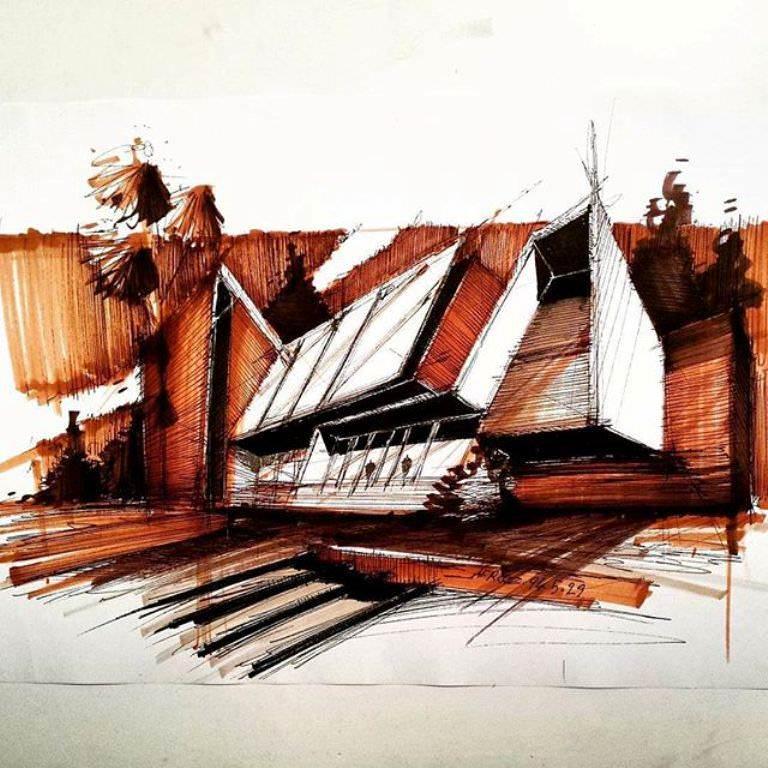397建築設計師手稿作品