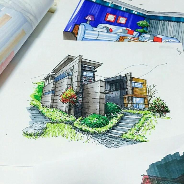 406建築設計師手稿作品