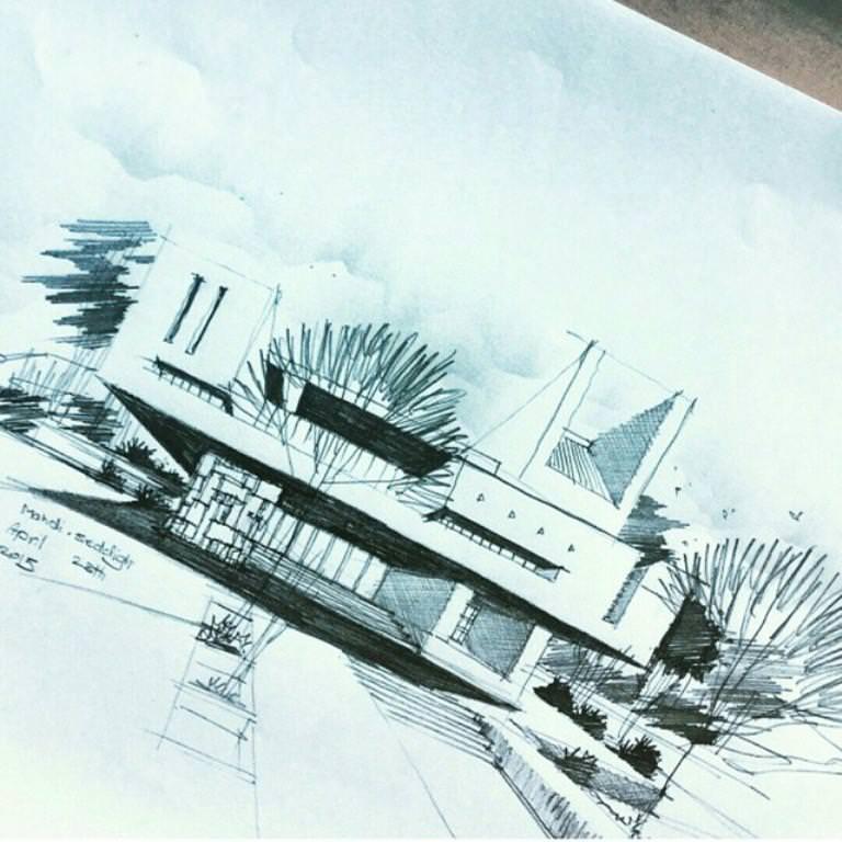 410建築設計師手稿作品