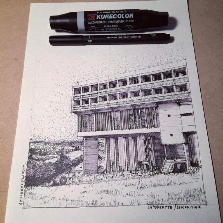 426建築設計師手稿作品