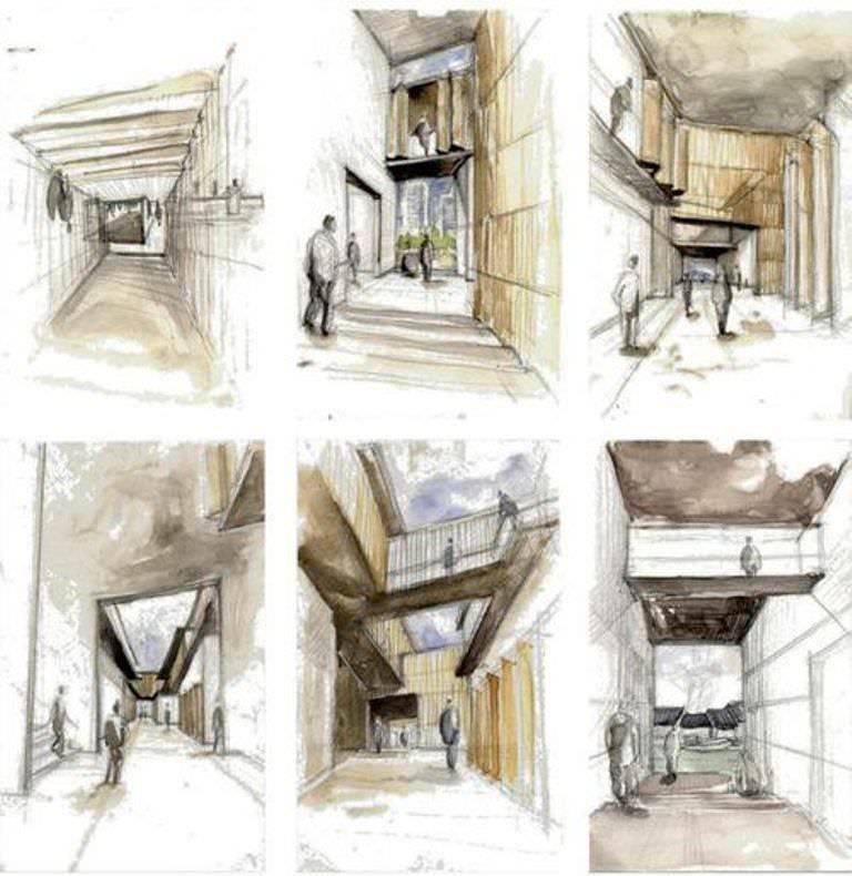 438建築設計師手稿作品