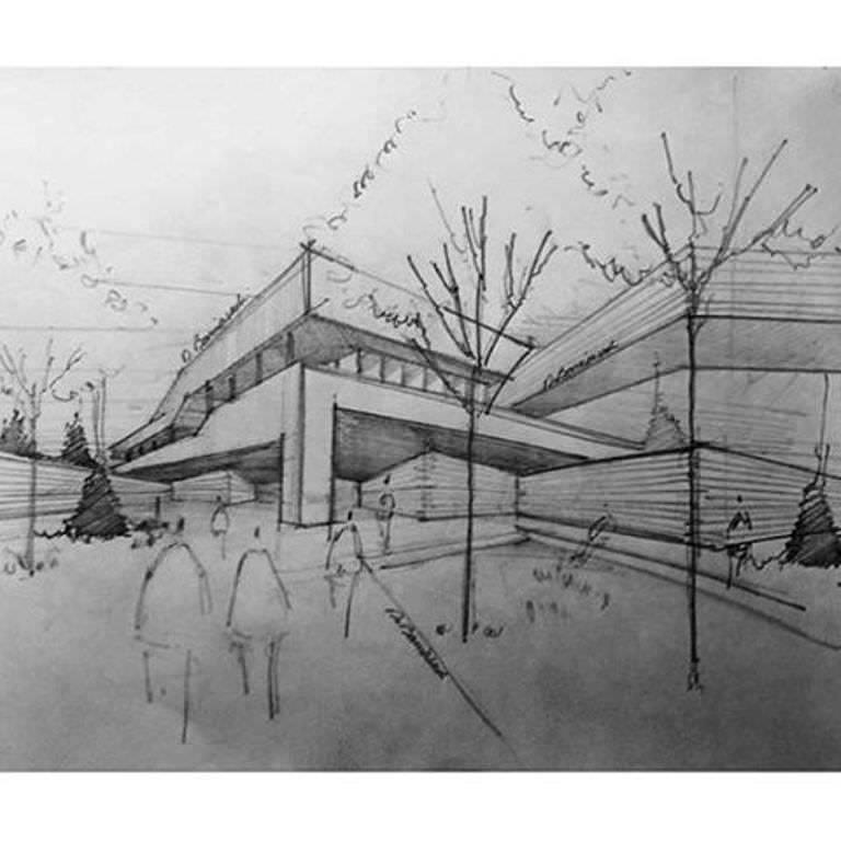 442建築設計師手稿作品