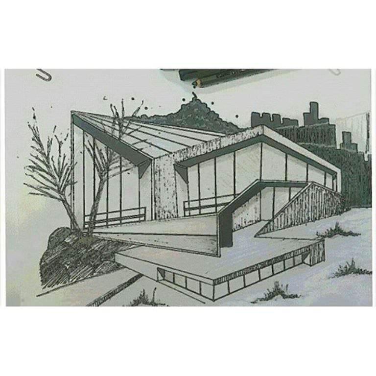443建築設計師手稿作品