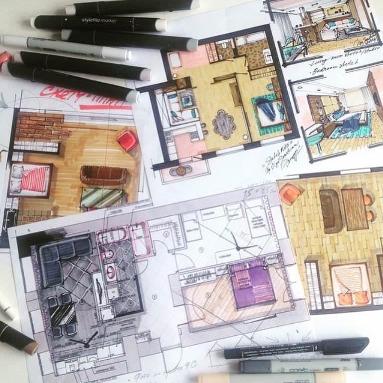 446建築設計師手稿作品