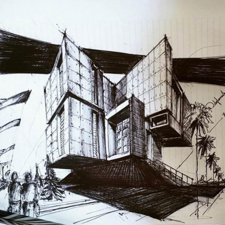448建築設計師手稿作品