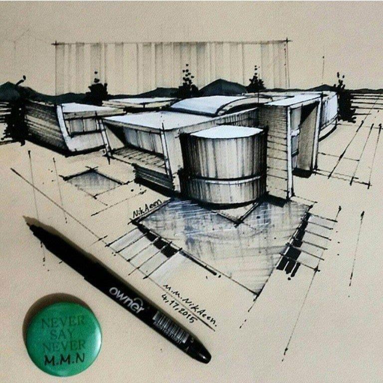 449建築設計師手稿作品