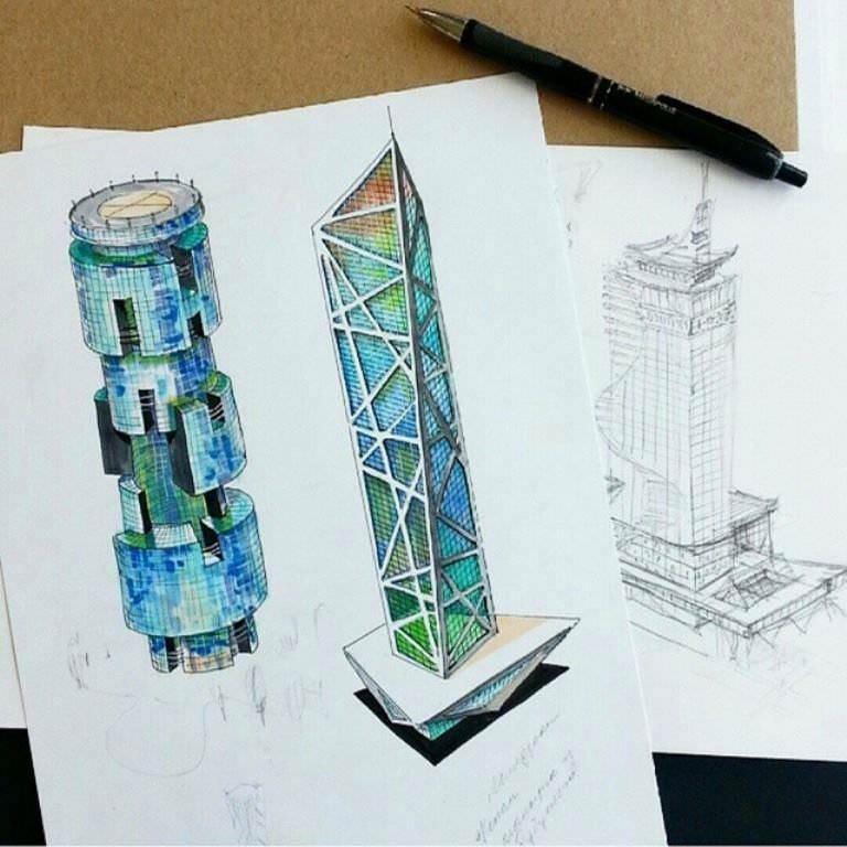 451建築設計師手稿作品