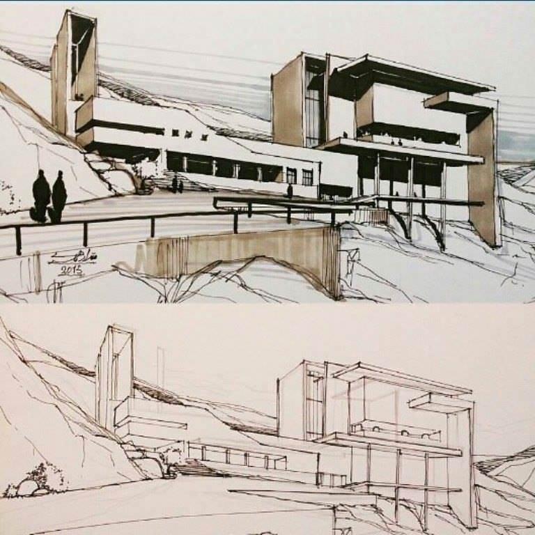 453建築設計師手稿作品