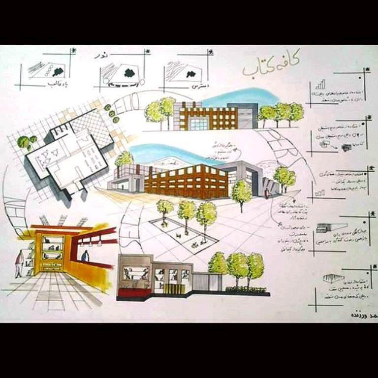 454建築設計師手稿作品