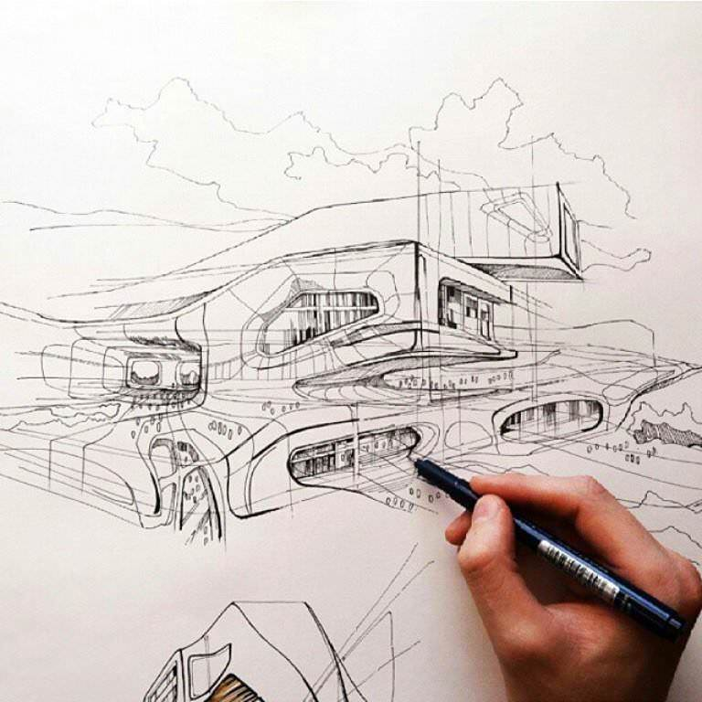 457建築設計師手稿作品