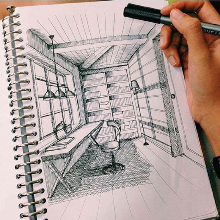 465建築設計師手稿作品
