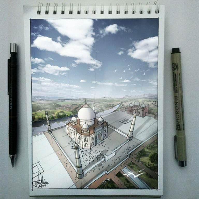 469建築設計師手稿作品
