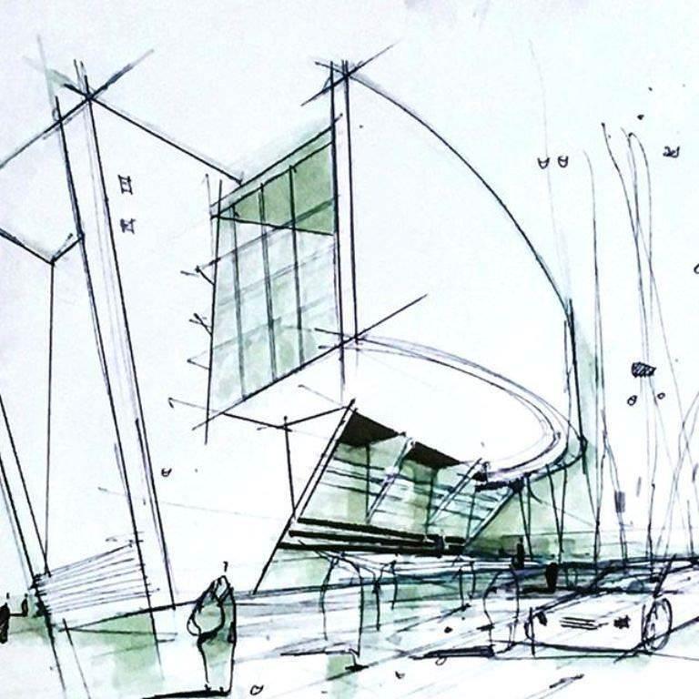 470建築設計師手稿作品