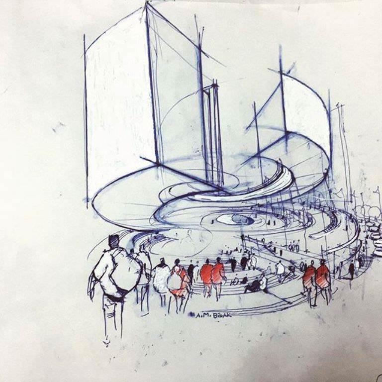 472建築設計師手稿作品